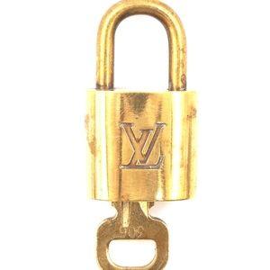 Gold Lock Keepall Speedy Alma Key Set #306 Bag